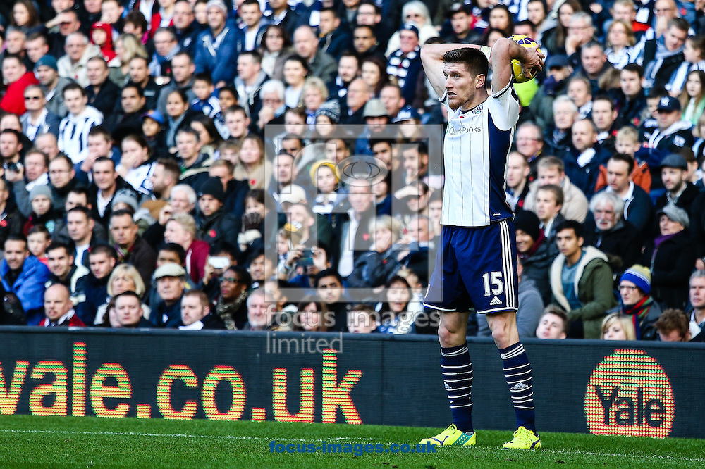 Sebastien Pocognoli of West Bromwich Albion during the Barclays Premier League match at The Hawthorns, West Bromwich<br /> Picture by Andy Kearns/Focus Images Ltd 0781 864 4264<br /> 09/11/2014