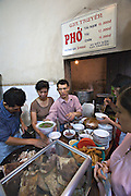 Traditional breakfast: Pho (noodle soup).