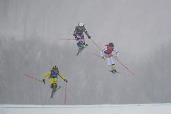 February 23, 2018 - Pyeongchang, SOUTH KOREA - 180223 Julia Eichinger of Germany, Nikol Kucerova of Czech Republic and Sandra Näslund of Sweden competes in the Women's Freestyle Ski Cross 1/8 Final during day fourteen of the 2018 Winter Olympics on February 23, 2018 in Pyeongchang..Photo: Carl Sandin / BILDBYRÃ…N / kod CS / 57999_318 (Credit Image: © Carl Sandin/Bildbyran via ZUMA Press)