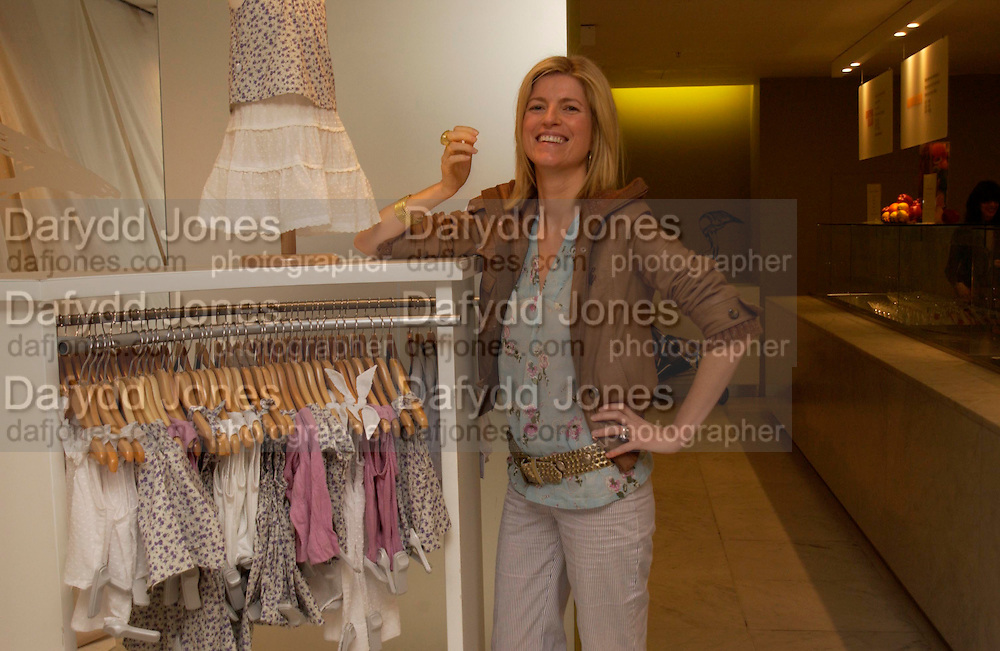 Lucy Sykes. Launch of 'Lucy  Sykes Baby, New York' Selfridges. 14 April 2005. ONE TIME USE ONLY - DO NOT ARCHIVE  © Copyright Photograph by Dafydd Jones 66 Stockwell Park Rd. London SW9 0DA Tel 020 7733 0108 www.dafjones.com
