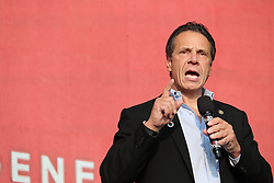Andrew Cuomo at the 2018 Global Citizen Festival: Be The Generation in Central Park in New York City.
