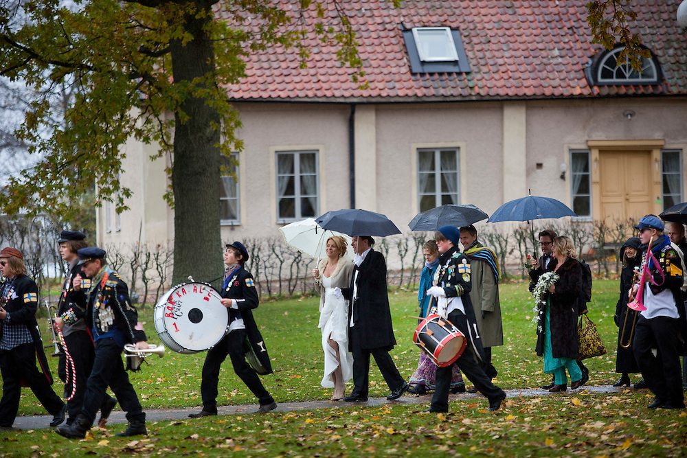 Chris and Ragnhild's wedding celebration  in Vadstena, Sweden.Photos by Joakim Roos /MOMENT