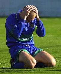 Ilija Stolica fudbaler Zemuna na utakmici prvenstva Jugoslavija YUG protiv Obilica na stadionu Obilica<br /> 08.03.2002. godine<br /> Foto: Marko Metlas
