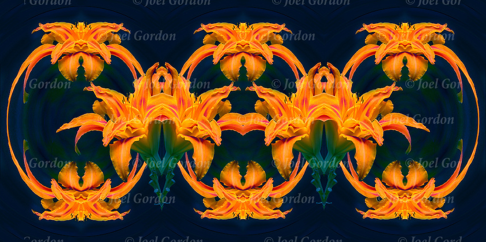 Photographic series of Flora digital computer art distortions.<br /> <br /> Two or more layers used to enhance, alter and manipulate the image, creating an abstract surrealistic mirrored symmetry.