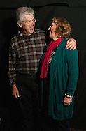 Dorie Wilkie with husband Tom..Great Tapestry of Scotland project at the Borders Book Festival 2012.Harmony House in Melrose, The Scottish Borders..pictures by Alex Hewitt/Writer Pictures