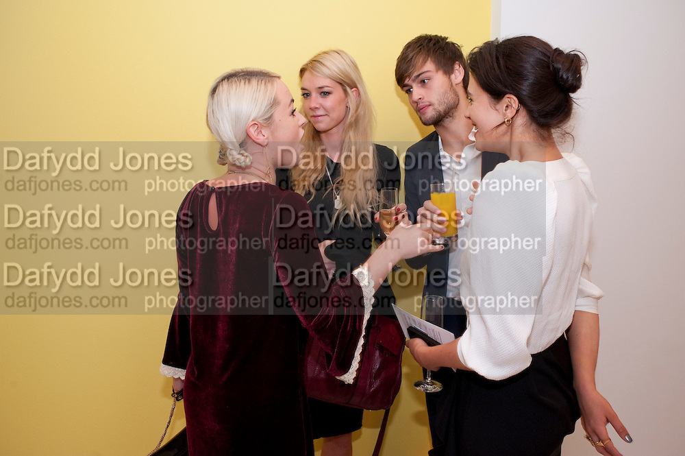 JAIME WINSTONE; VANESS KIRBY,; DOUGLAS BOOTH; JESSICA BROWN FINDLAY; ;  English National Ballet's party before performance of the ' The Nutcracker. St. Martin's Lane Hotel. London 14 December 2011.