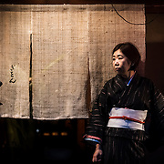 Woman in the streets of Gion, Kyoto.