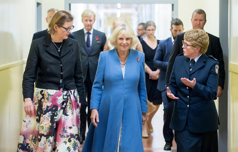 Camilla, Duchess of Cornwall visits inmates at Arohata Womens Prison, Wellington, New Zealand, Saturday, November 07, 2015. Credit:SNPA / DominionPost, Maarten Holl **POOL**