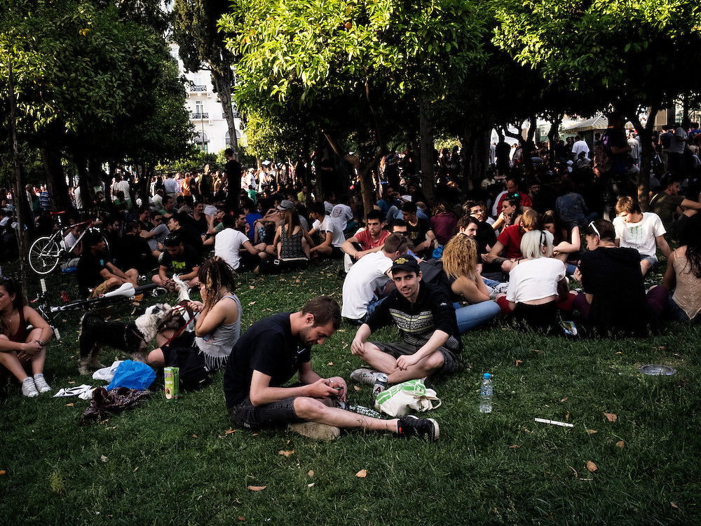 Greece, Athens, May 9 2015 Athens Cannabis Protestival, the first official gathering and pro-cannabis legalization celebration organized by collectives and citizens took place at Syntagma square, central Athens.