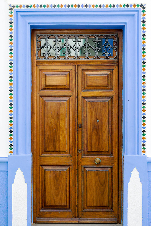 Moroccan door architecture, Asilah, Northern Morocco, 2015-08-10. <br />