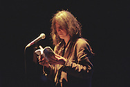 American poet singer Patti Smith in concert at Glasgow Royal Concert Hall, in Glasgow, Scotland, in 1996. .Rex 261718 JSU.
