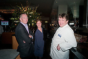 GARY BOOM; DEBBIE BOOM; ROWLEY LEIGH, Fine Wine and Dine in aid of  Sick Children's Trust. Cafe Anglais. London. 1 March 2012