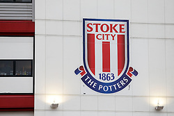 The Stoke Club Crest outside the stadium - Photo mandatory by-line: Rogan Thomson/JMP - 07966 386802 - 01/01/2015 - SPORT - FOOTBALL - Stoke-on-Trent, England - Britannia Stadium - Stoke City v Manchester United - New Year's Day Football - Barclays Premier League.