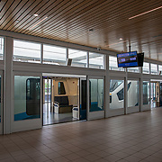 The train area at Orlando International Airport remains functional but mostly empty to air passengers, due to the Coronavirus (Covid-19) outbreak on Friday, April 17, 2020 in Orlando, Florida. (Alex Menendez via AP)
