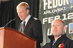 Feb 9, 2011; New York, NY, USA; Final Press Conference for the opening round of the Strikeforce Heavyweight Grand Prix, which will take place on February 12, 2011 at the Izod Center in East Rutherford, NJ.