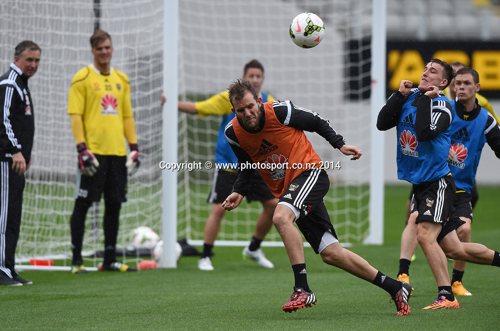 Jeremy Brockie. A-League Football. Wellington Phoenix training session at Eden Park, Friday 12 December 2014. Photo: Andrew Cornaga/photosport.co.nz