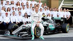 Mercedes' Nico Rosberg during the end of year team photo before the Abu Dhabi Grand Prix at the Yas Marina Circuit, Abu Dhabi.