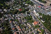 Nederland, Drenthe, Assen, 08-09-2009; centrum van de stad, met in het midden de Jozefkerk (Nederlands Hervormd), voorbeeld van Waterstaatskerk (neoclassicistisch stijl). Onder de  Zuiderkerk (huisvestte de Synode van Assen, kwestie Geelkerken).City centre.luchtfoto (toeslag); aerial photo (additional fee required); .foto Siebe Swart / photo Siebe Swart