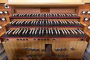 The organ at St. Joseph Abbey built by Lynn A. Dobson of Lake City, Iowa in 2000