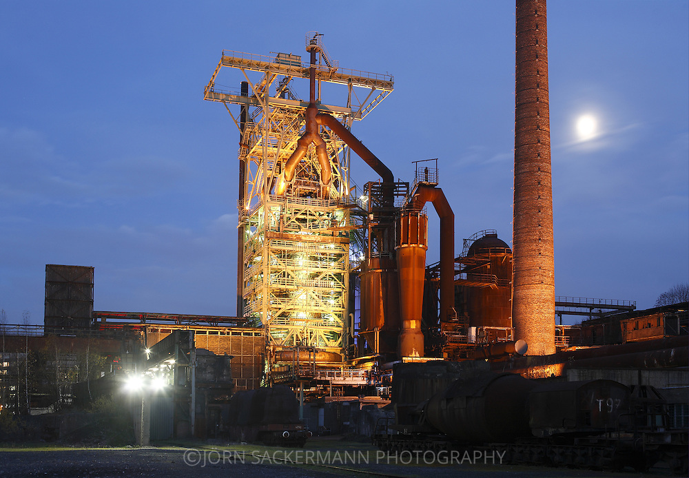 DEU, Germany, Ruhr area, Hattingen, Westphalian Industry Museum Henrichs smeltery, blast furnace 3.....DEU, Deutschland, Ruhrgebiet, Hattingen, Westfaelisches Industriemuseum Henrichshuette, Hochofen 3...[For each usage of my images the General Terms and Conditions are mandatory.]