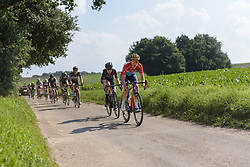 Christine Majerus leads the break toward the end of the second lap at Boels Rental Ladies Tour Stage 6 a 159.7 km road race staring and finishing in Sittard, Netherlands on September 3, 2017. (Photo by Sean Robinson/Velofocus)