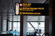 Sign at Schiphol Airport in the Nederlands.