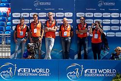 Vrieling Jur, NED, VDL Glasgow v Merelsnest, Houtzager Mark, Schuttert Frank, Ehning Marcus<br /> World Equestrian Games - Tryon 2018<br /> © Hippo Foto - Dirk Caremans<br /> 19/09/2018
