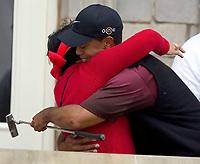Golf, 2005 Open Championship, St. Andrews.<br /> Pic Noah Boardman/Digitalsport<br /> Sunday 17/07/2005<br /> A hug for mother KULTIDA from champion Tiger Woods