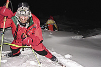 Ekspedisjoner<br /> Foto: Dppi/Digitalsport<br /> NORWAY ONLY<br /> <br /> ADVENTURE - MIKE HORN AND BORGE OUSLAND NORTH POLE WINTER EXPEDITION 2006 - ARCTIC ICE FIELD - 01/02/2006<br /> <br /> PHOTO : MIKE HORN / MIKEHORN.COM / DPPI<br /> <br /> MIKE HORN (RSA) AND BØRGE OUSLAND (NOR) BECOME THE FIRST MEN TO JOIN NORTH POLE COMPLETELY UNASSISTED IN ARCTIC WINTER AFTER WALKING 1000 KM IN 60 DAYS AND 5 HOURS - THEY LEFT CAPE ARTICHEVSKY 20/01/2006 AT 09:00 GMT AND REACHED NORTH POLE 23/03/2006 - BORGE OUSLAND PULLING HIS SLEDGES THAT WEIGHT 170 KG