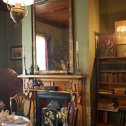 The dining room at The Katherine Mansfield Birthplace, Wellington. The Katherine Mansfield Birthplace is the childhood home of one of the world's best-known short story writers and New Zealand's most famous author..You can enjoy a virtual visit to this historic family home and garden, as well as discover the life and work of the writer herself at The Katherine Mansfield Birthplace. Tinakori Road. Thorndon. Wellington, New Zealand.  22nd January 2011. Photo Tim Clayton