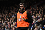 No starting place for midweek Welsh hero Joe Ledley during the Barclays Premier League match between Crystal Palace and West Ham United at Selhurst Park, London, England on 17 October 2015. Photo by Michael Hulf.