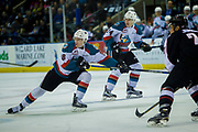 KELOWNA, CANADA - MARCH 10:  Jack Cowell #8 of the Kelowna Rockets, Kyle Topping #24 of the Kelowna Rockets at the Kelowna Rockets game on March 10, 2017 at Prospera Place in Kelowna, British Columbia, Canada.  (Photo By Cindy Rogers/Nyasa Photography,  *** Local Caption ***