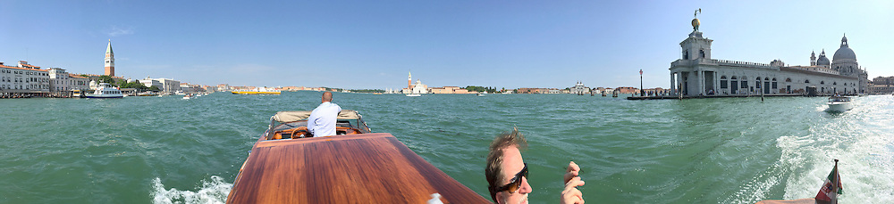 "Venice, Italy - 15th Architecture Biennale 2016, ""Reporting from the Front"".<br /> Aboard a water taxi."