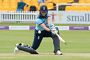 Natalie Sciver batting during the Royal London Women's One Day International match between England Women Cricket and Australia at the Fischer County Ground, Grace Road, Leicester, United Kingdom on 2 July 2019.