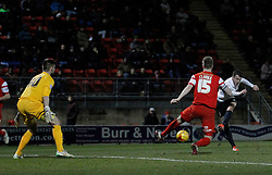 Andrew Halliday Bradford City's midfielder takes a shot at goal - Photo mandatory by-line: Mitchell Gunn/JMP - Mobile: 07966 386802 - 18/02/2015 - SPORT - Football - London - Brisbane Road - Leyton Orient v Bradford City - Sky Bet League One