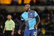 Wycombe Wanderers Forward, Adebayo Akinfenwa (20) during the EFL Sky Bet League 2 match between Wycombe Wanderers and Hartlepool United at Adams Park, High Wycombe, England on 26 November 2016. Photo by Adam Rivers.