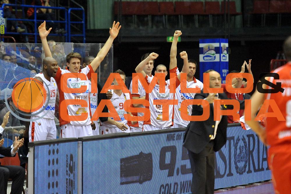 DESCRIZIONE : Milano Coppa Italia Final Eight 2013 Quarti di Finale Cimberio Varese EA7 Emporio Armani Milano<br /> GIOCATORE : Panchina<br /> CATEGORIA : Esultanza<br /> SQUADRA : Cimberio Varese<br /> EVENTO : Beko Coppa Italia Final Eight 2013<br /> GARA : Cimberio Varese EA7 Emporio Armani Milano<br /> DATA : 07/02/2013<br /> SPORT : Pallacanestro<br /> AUTORE : Agenzia Ciamillo-Castoria/V.Tasco<br /> Galleria : Lega Basket Final Eight Coppa Italia 2013<br /> Fotonotizia : Milano Coppa Italia Final Eight 2013 Quarti di Finale Cimberio Varese EA7 Emporio Armani Milano<br /> Predefinita :