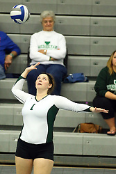 28 October 2016:  Leah Seielstad during an NCAA womens division 3 Volleyball match between the DePauw Tigers and the Illinois Wesleyan Titans in Shirk Center, Bloomington IL
