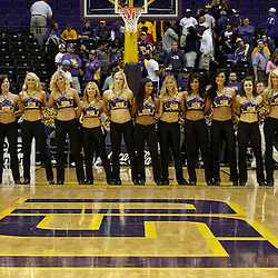 November 12, 2011; Baton Rouge, LA; The LSU Tigers Tiger Girls dance team on the court following a win over the Nicholls State Colonels at the Pete Maravich Assembly Center. LSU defeated Nicholls State 96-74.  Mandatory Credit: Derick E. Hingle-US PRESSWIRE
