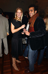 LADY GABRIELLA WINDSOR daughter of Prince & Princess Michael of Kent and her boyfriend AATISH TASEER at a party to celebrate the publication of 'E is for Eating' by Tom Parker Bowles held at Kensington Place, 201 Kensington Church Street, London W8 on 3rd November 2004.<br /><br />NON EXCLUSIVE - WORLD RIGHTS