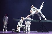 BalletBoyz return to Sadler's Well's Theatre, London, with four new works playing with the concept of balance and imbalance. Choregraphers Javier de Frutos, Craig Revel Horwood, Iván Pérez  and Christopher Wheeldon have produced new works, which are followed by the return of Fallen by Russell Maliphant. © Tony Nandi 2017