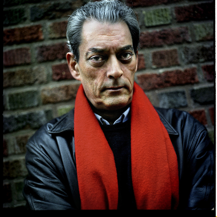 Paul Auster, writer, photographed at home in Park Slope, Brooklyn, New York