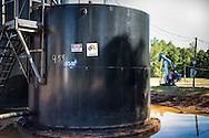 Tanks in an oil field in Hosston, Louisiana, part of the Haynsville Shale region.