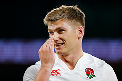 England Fly-Half Owen Farrell looks on after England win the match - Mandatory byline: Rogan Thomson/JMP - 07966 386802 - 15/08/2015 - RUGBY UNION - Twickenham Stadium - London, England - England v France - QBE Internationals 2015.