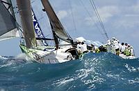 Seiling. Volvo Ocean Race 2001/2002. Sjette etappe fra Miami til Baltimore. 14.04.2002.<br /> Illbruck Challenge. Skipper John Kostecki fra USA.<br /> Foto: Daniel Forster, Digitalsport