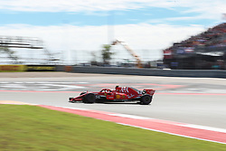 October 21, 2018 - Austin, TX, U.S. - AUSTIN, TX - OCTOBER 21: Ferrari driver Kimi Raikkonen (7) of Finland drives through turn 1 during the F1 United States Grand Prix on October 21, 2018, at Circuit of the Americas in Austin, TX. (Photo by John Crouch/Icon Sportswire) (Credit Image: © John Crouch/Icon SMI via ZUMA Press)