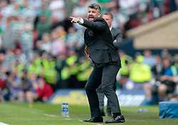Motherwell manager Stephen Robinson gestures on the touchline during the William Hill Scottish Cup Final at Hampden Park, Glasgow.