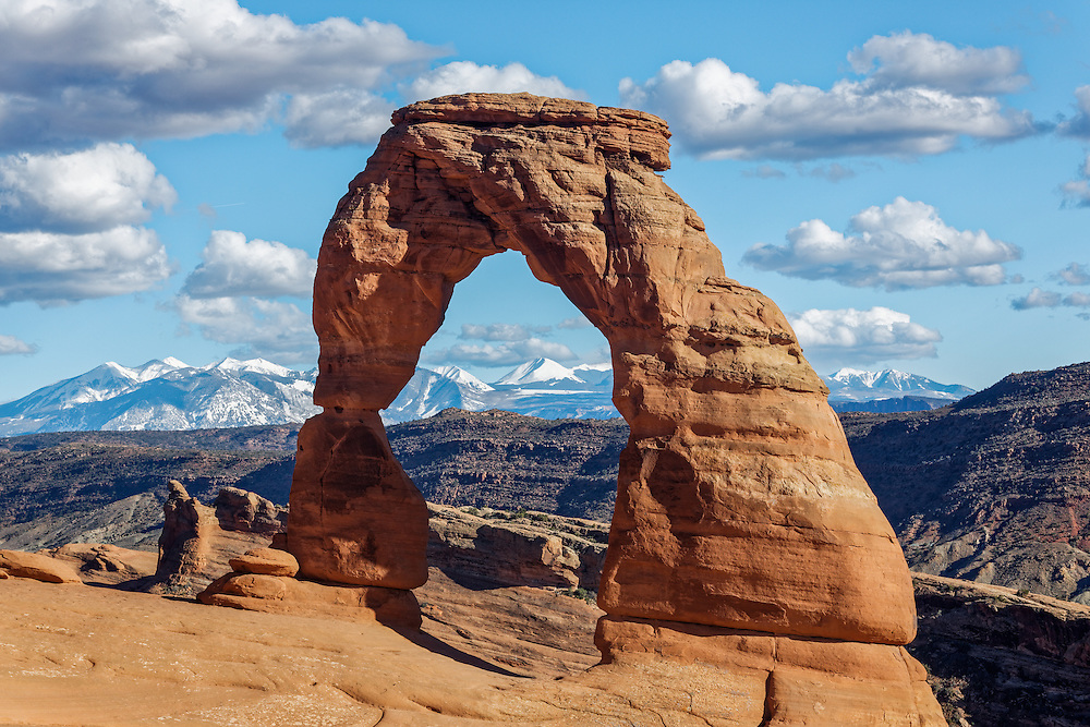 One of the iconic and most photographed sites at Arches National Park in Utah.