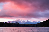 Pink Sunrise at Lost Lake, Oregon, USA