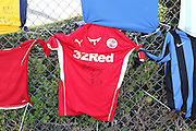 Signed Football shirts before the FA Vase 1st Qualifying Round match between Worthing United and East Preston FC at the Robert Eaton Memorial Ground, Worthing, United Kingdom on 6 September 2015. Photo by Phil Duncan.